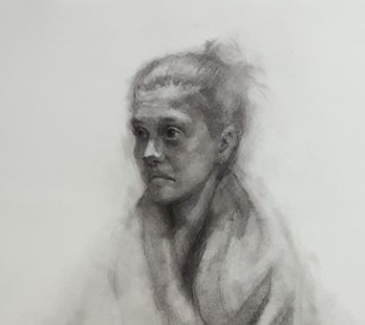 Charcoal Drawing by Sam Neer