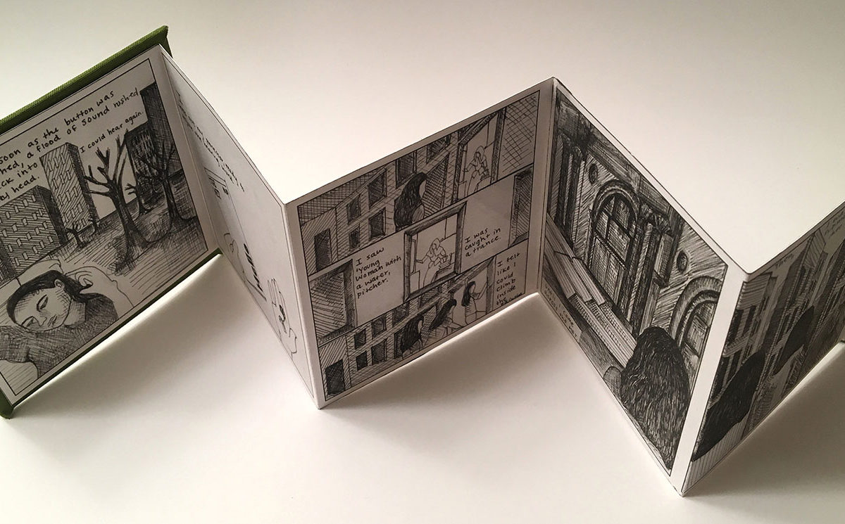 Accordion Artist's Book by art student Olivia Hunter