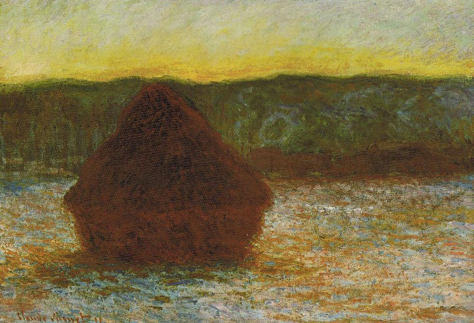 Claude Monet, Haystacks, oil painting