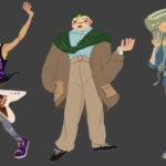 Art School Admissions Portfolio: Character Design, Digital Painting