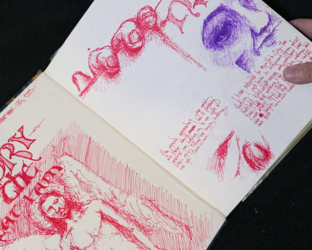 Alex Hart, art school sketchbook