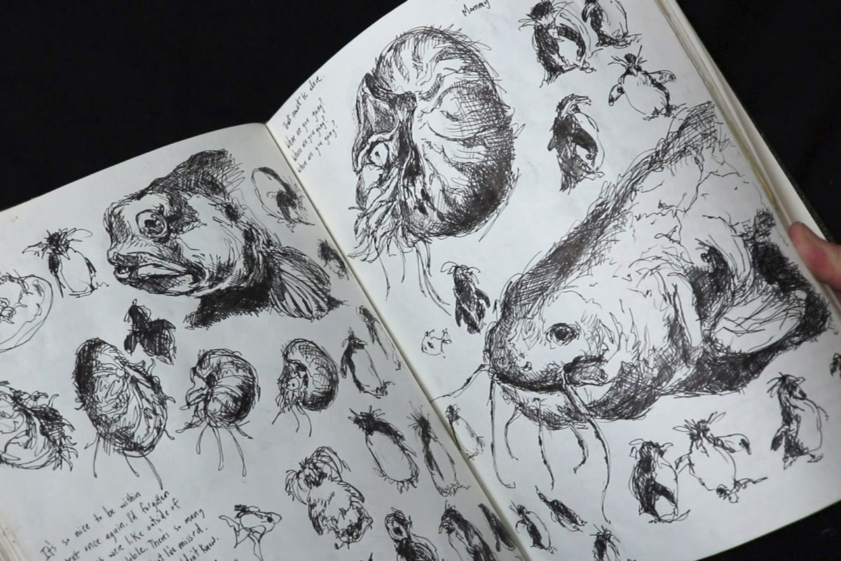 Prof Lieu, art school sketchbook