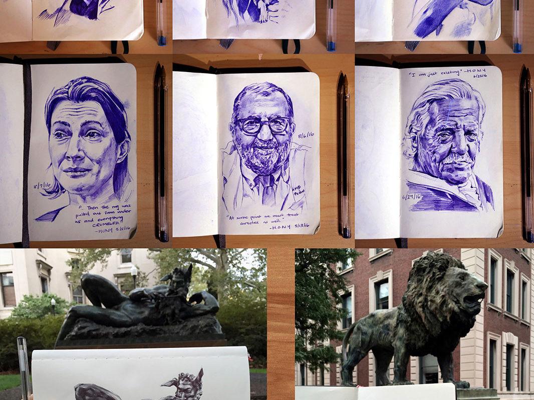 Art School Admissions Portfolio: Sketchbook Drawings