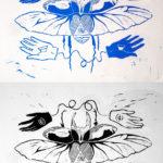 Art School Admissions Portfolio: Linoleum Block Print