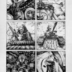 Art School Admissions Portfolio: Comic Page, Pen Drawing
