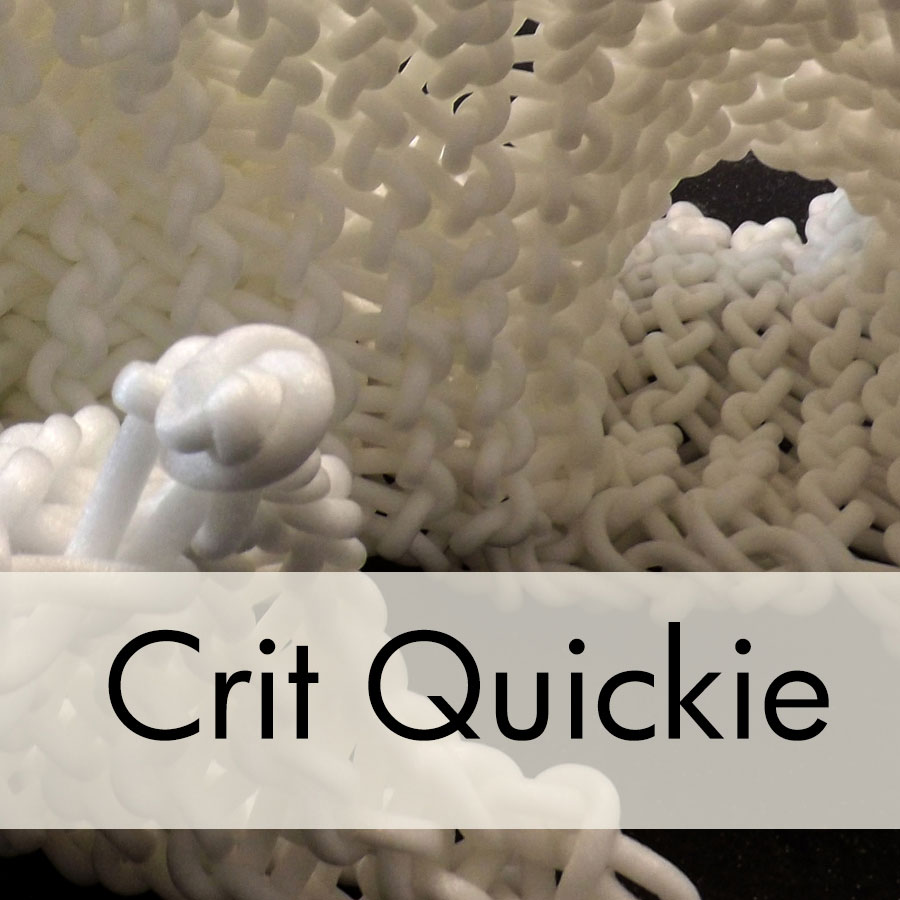 Art Critique: Knitted Polysyrene Sculpture
