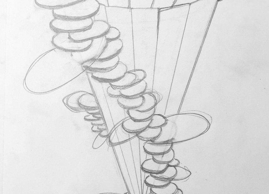 Structural Pencil Drawing
