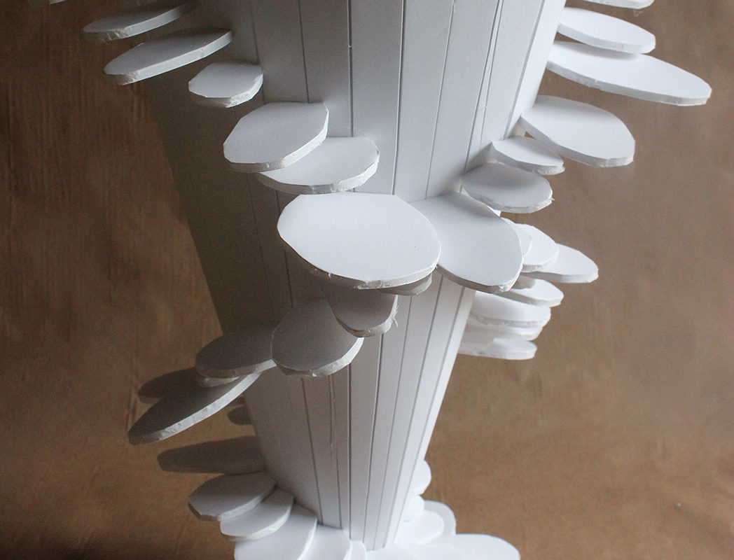 Foam board Staircase Sculpture