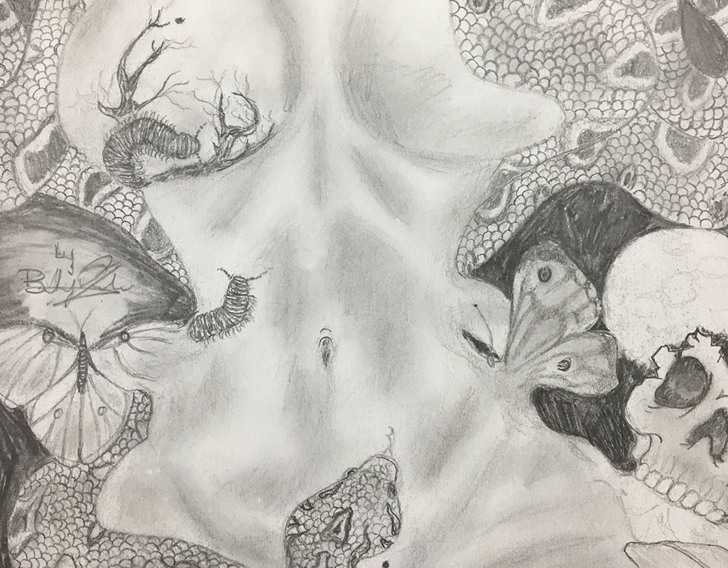 Pencil Drawing by Baldwin High School Student