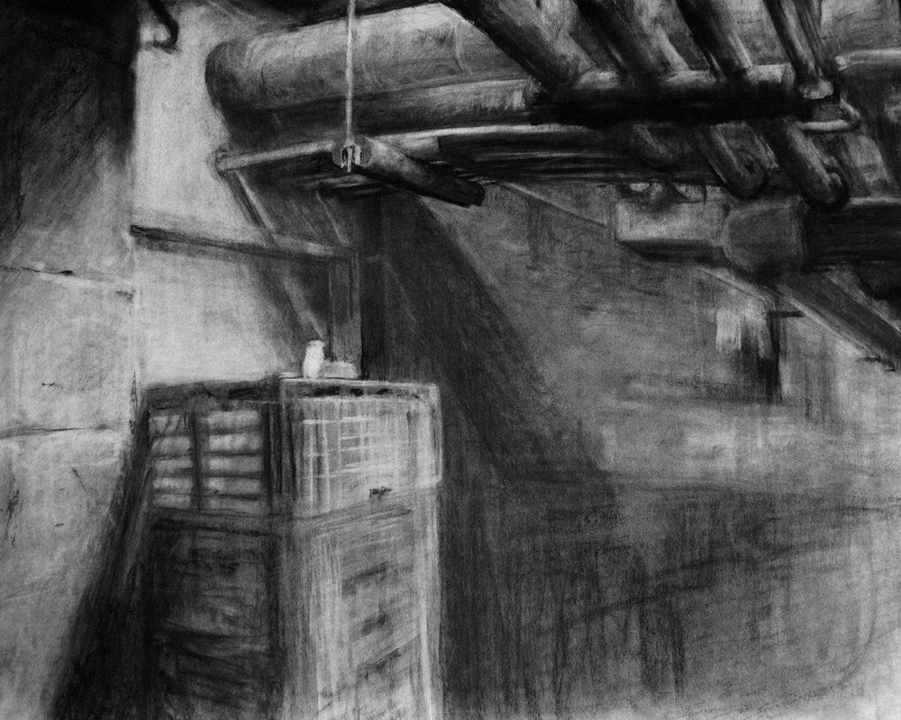Charcoal Drawing by Makoto Kumasaka