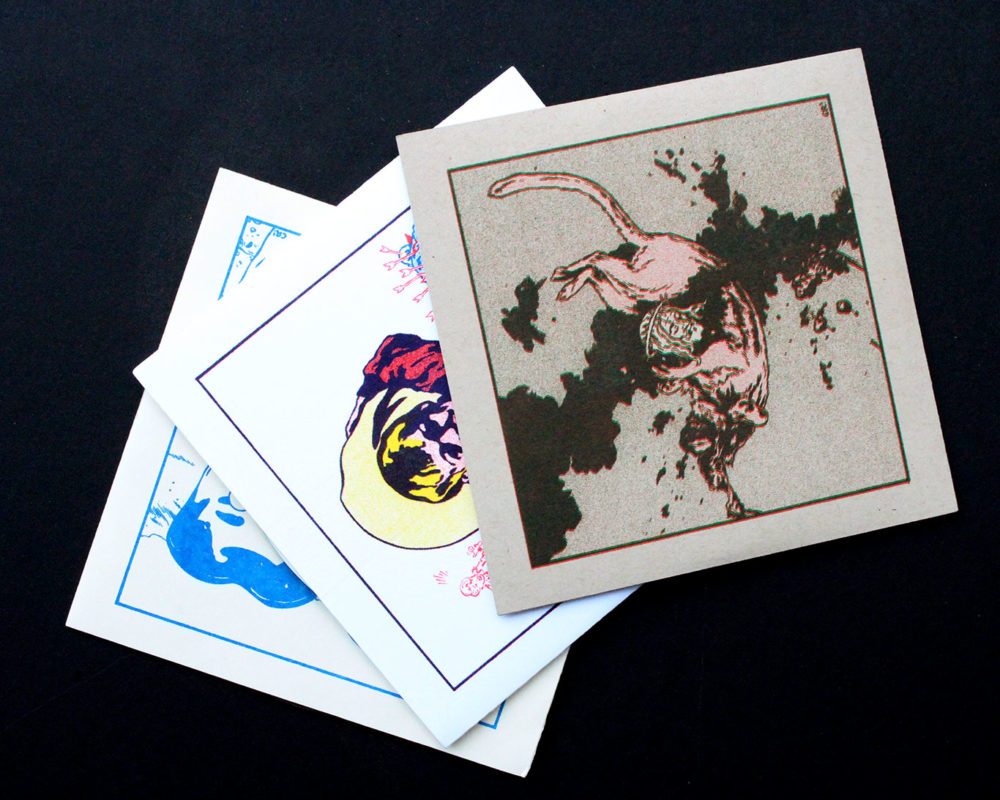 Risograph Album Covers, Casey Roonan