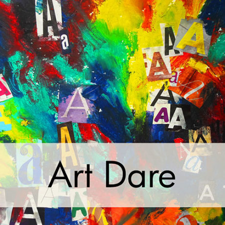 Art Prof Art Dare: Typography & Acrylic Painting