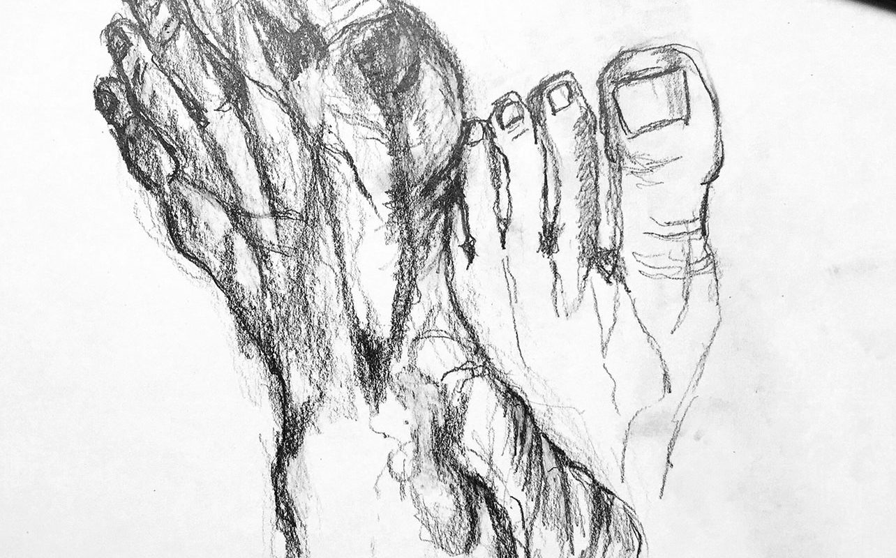 Gesture Drawing, Graphite, Dagmar Kuchler