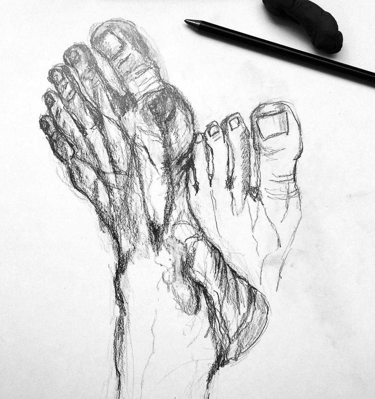 Gesture Drawing, Graphite, Dagmar Kuchler. Germany