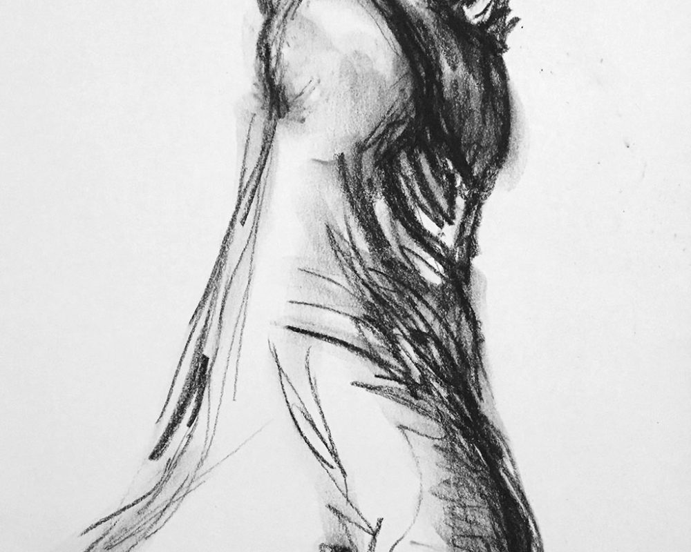 Gesture Drawing, Graphite, Susan Brents-Sheldon, USA