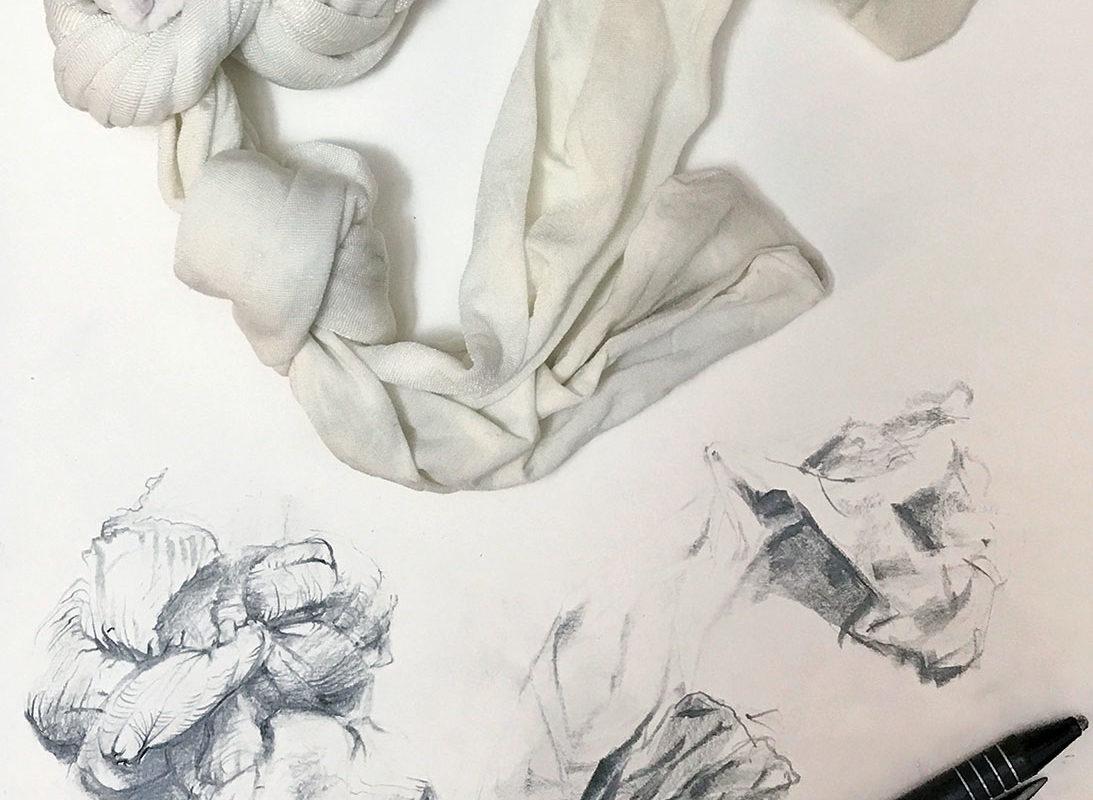 Sustained Drawing, Graphite, Prof Clara Lieu