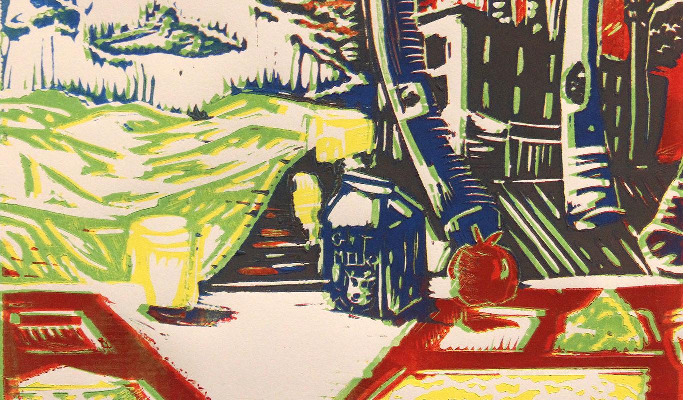 Editorial Illustration, Linoleum Block Print