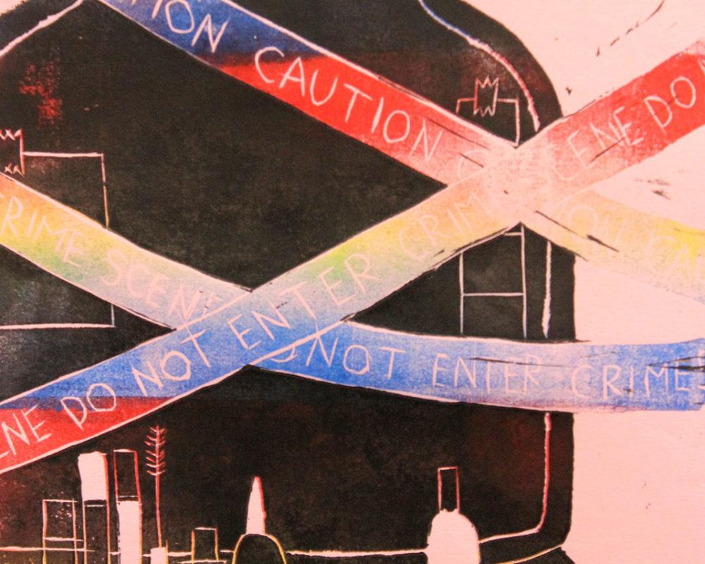 Hannah Falvey, Editorial Illustration, Linoleum Block Print