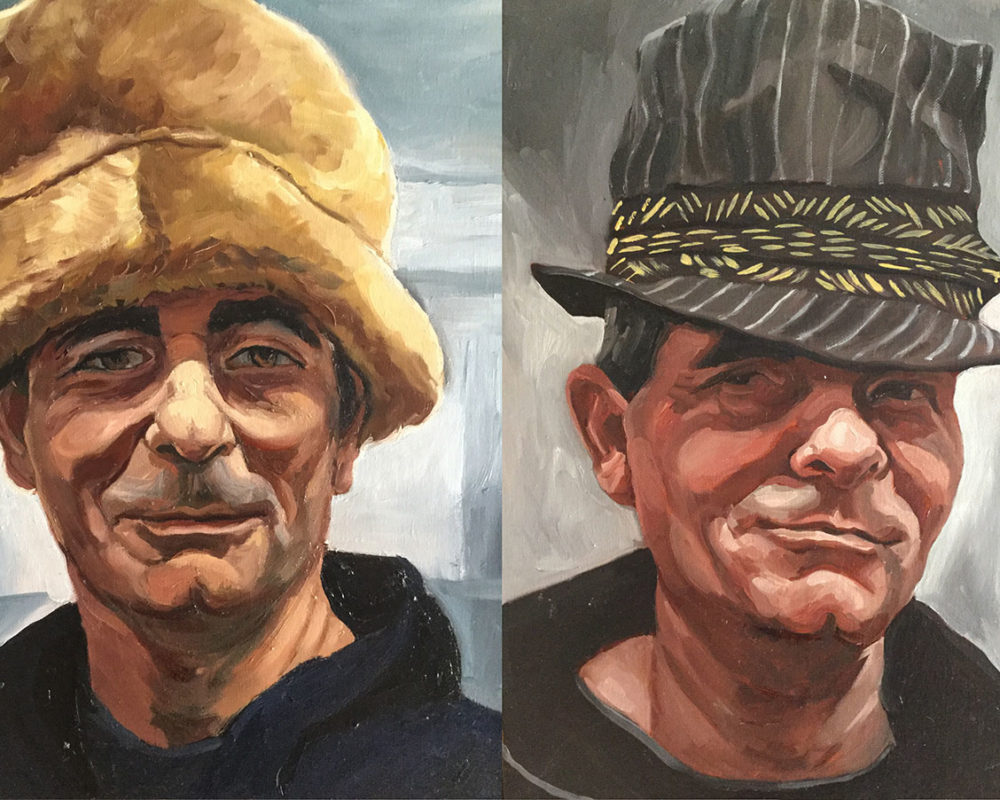 The Man in the Hat, oil on canvas, Donna Bar Peled
