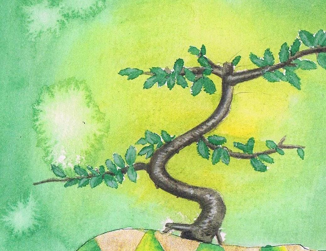 Regrowth, watercolor, Nakul Patel