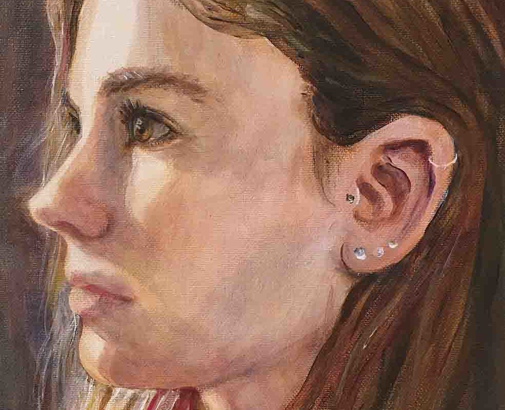 Amy Hollshwandner, oil painting