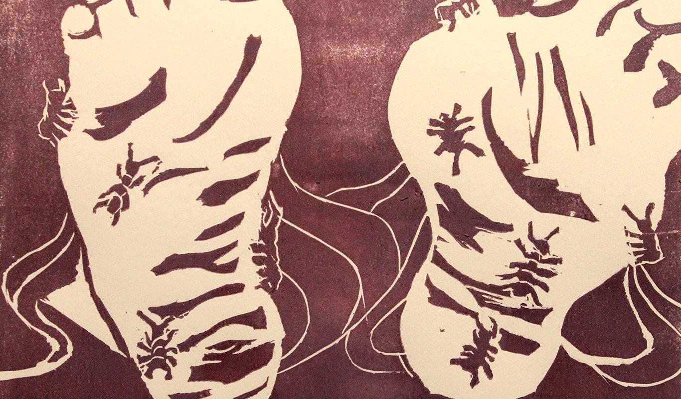 Jessica Dough, Editorial Illustration, Linoleum Block Print