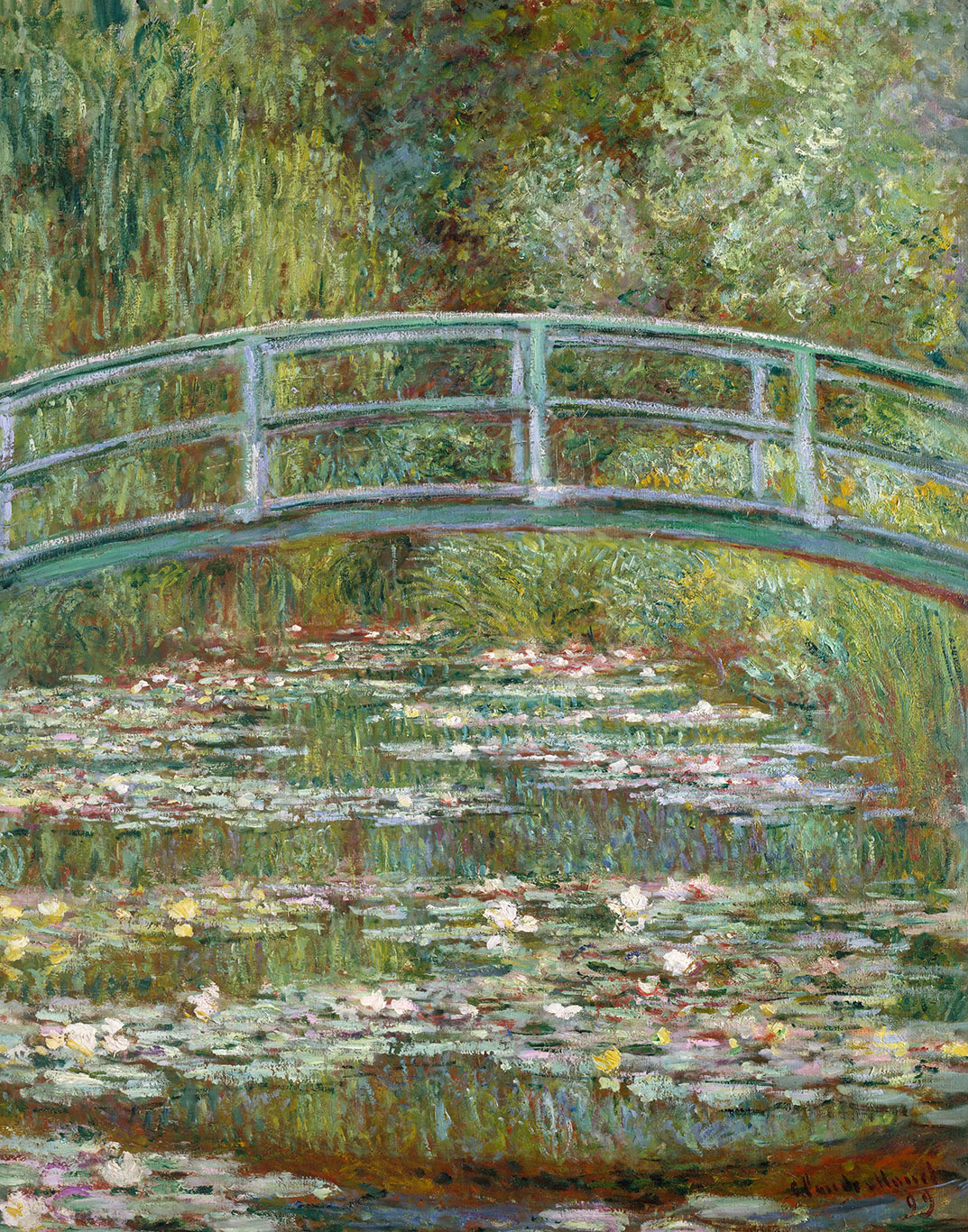 Claude Monet, Bridge over a Pond of Water Lilies