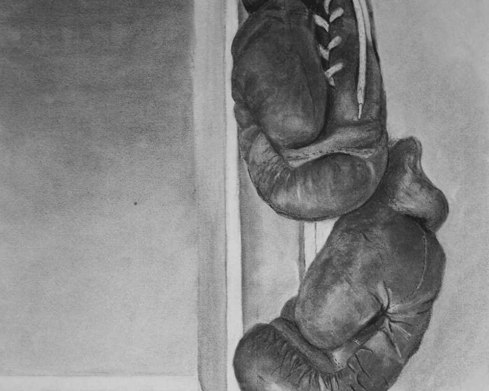 Piper Matthew, Charcoal Drawing from High School