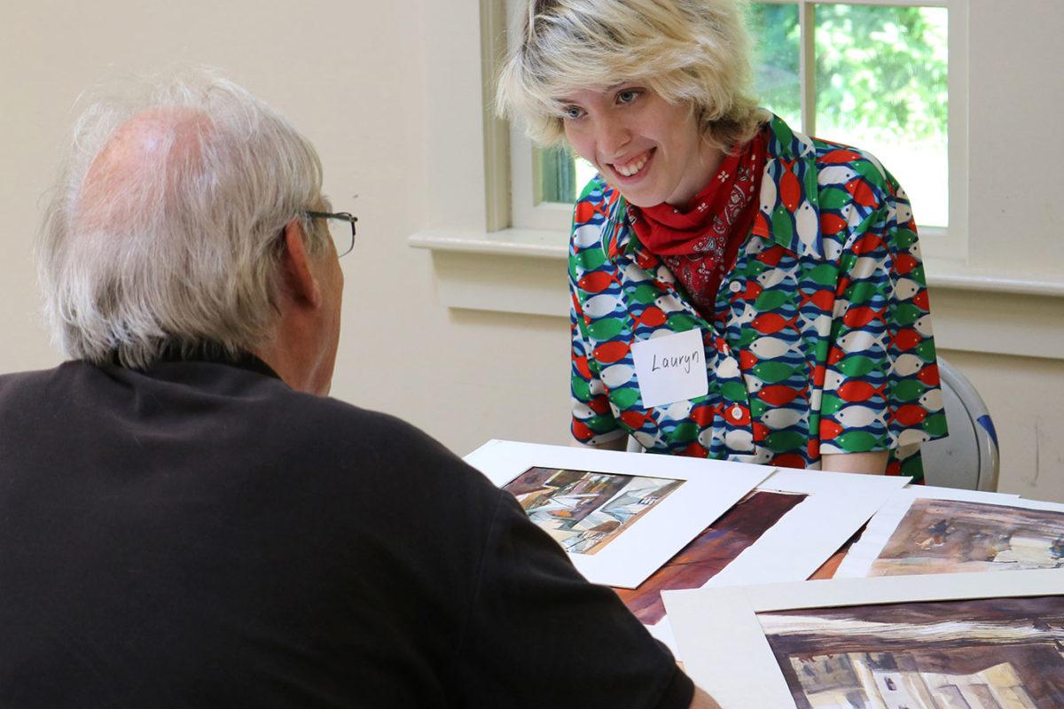 Art Prof TA Lauryn Welch reviews Steve Foote's portfolio