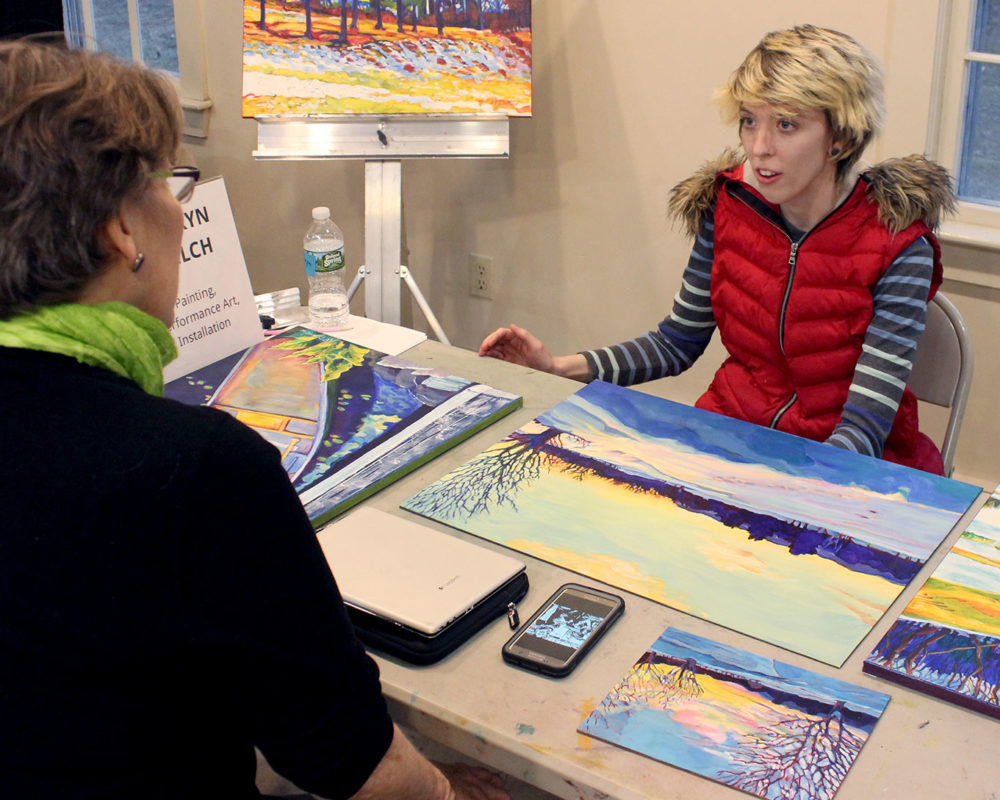 Art Prof TA Lauryn Welch reviews Alison Darrow's portfolio
