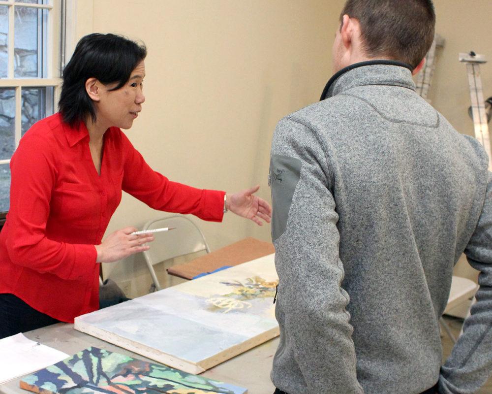 Prof Clara Lieu reviews Noah Urton's portfolio