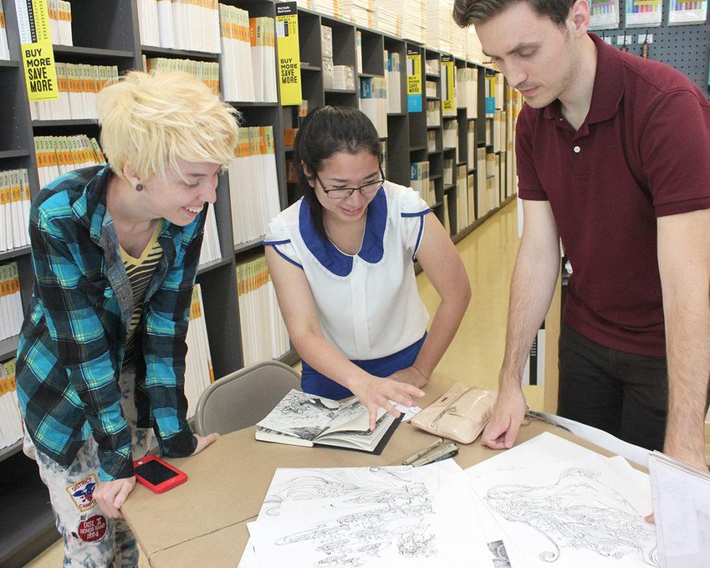Lauryn Welch & Casey Roonan review Maya Meen's artwork at Dick Blick in Cambridge