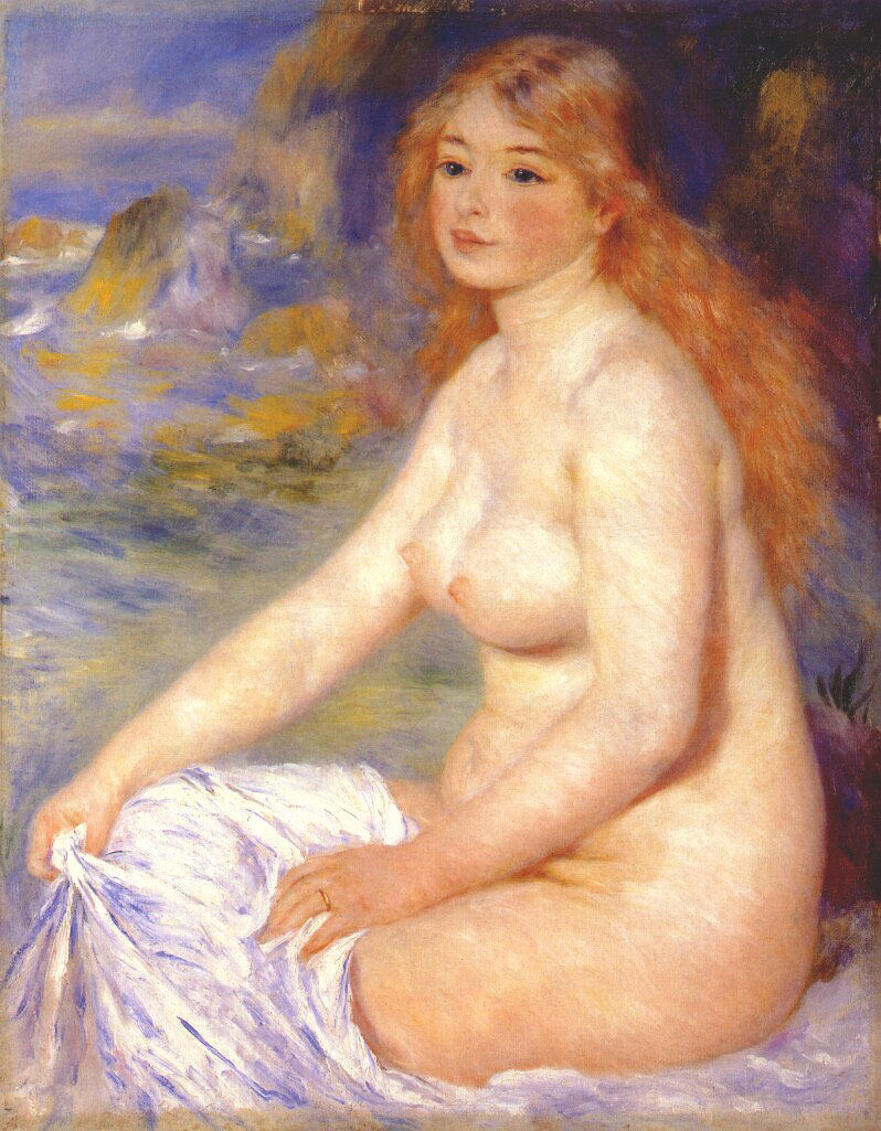 Blonde Bather, by Renoir