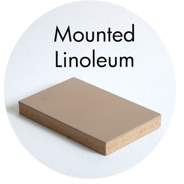 Art Supplies: Mounted Linoleum Block