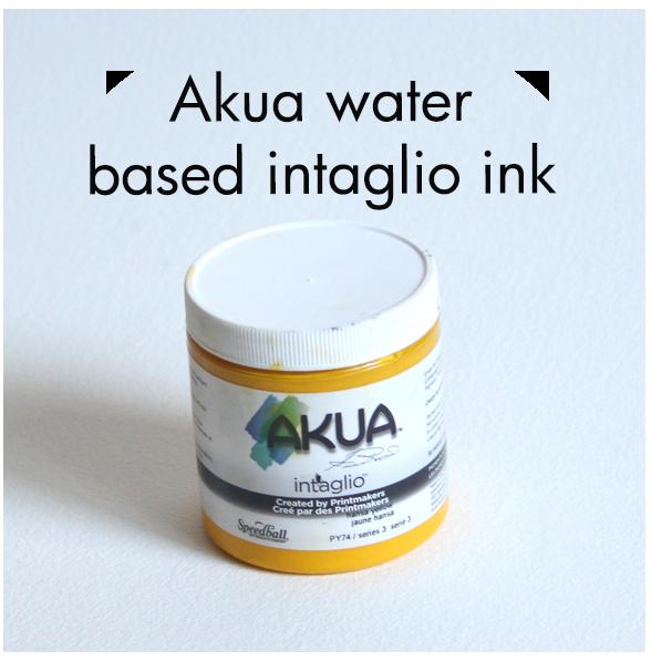 Art Supplies: Akua water based Intaglio Ink