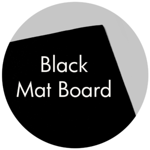 Art Supplies: Black Mat Board