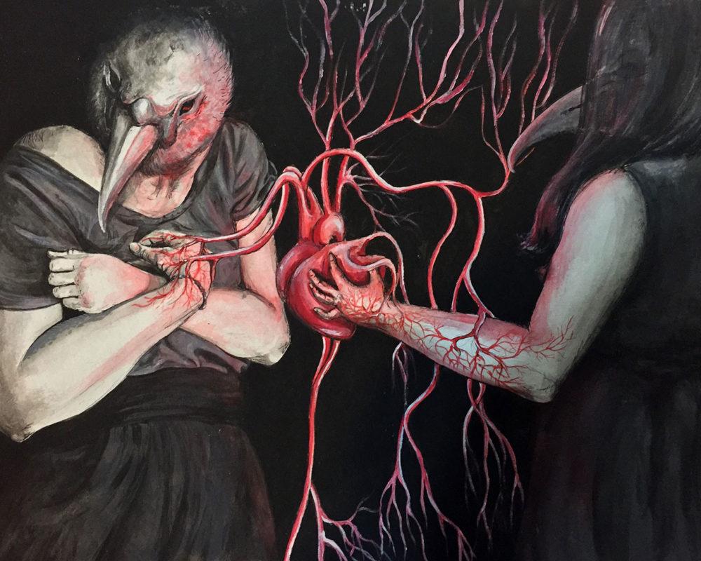 Acrylic Figure Painting, Sarah Posey