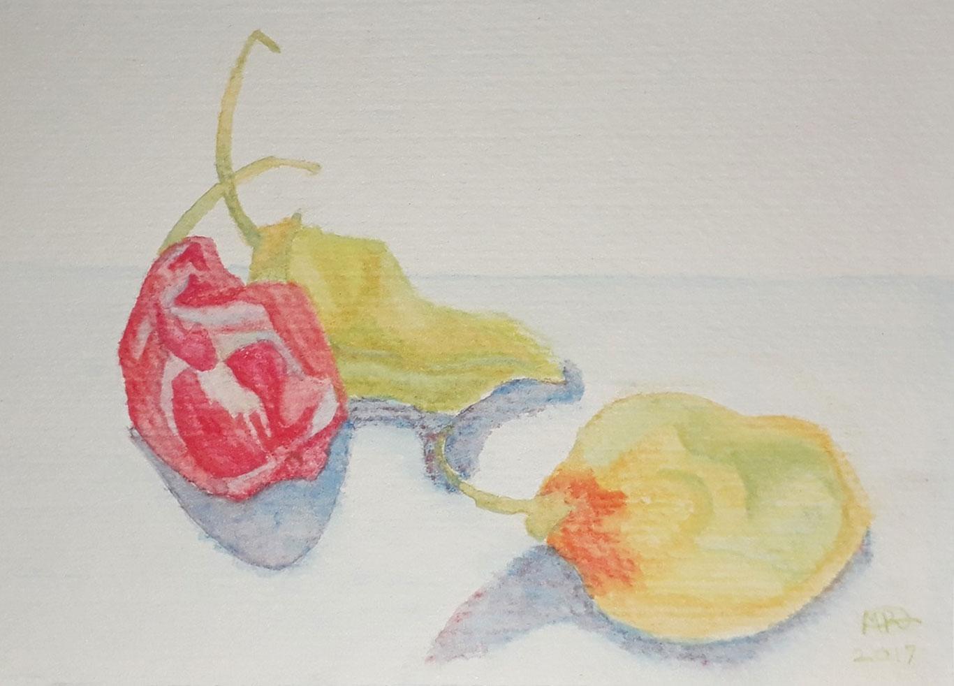 Watercolor Pencil Drawing, Maria Revs, Trinidad and Tobago