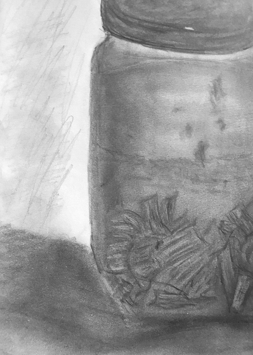 Graphite Drawing, Mick Hart, USA