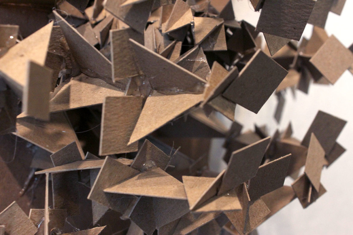 Chipboard Personality Sculpture, Mica Furtado