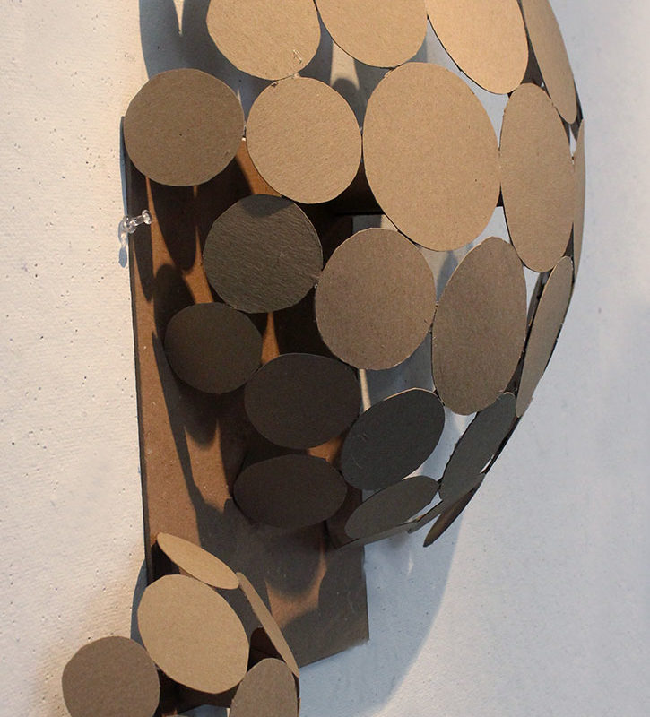 Chipboard Personality Sculpture. Lee Moistoso