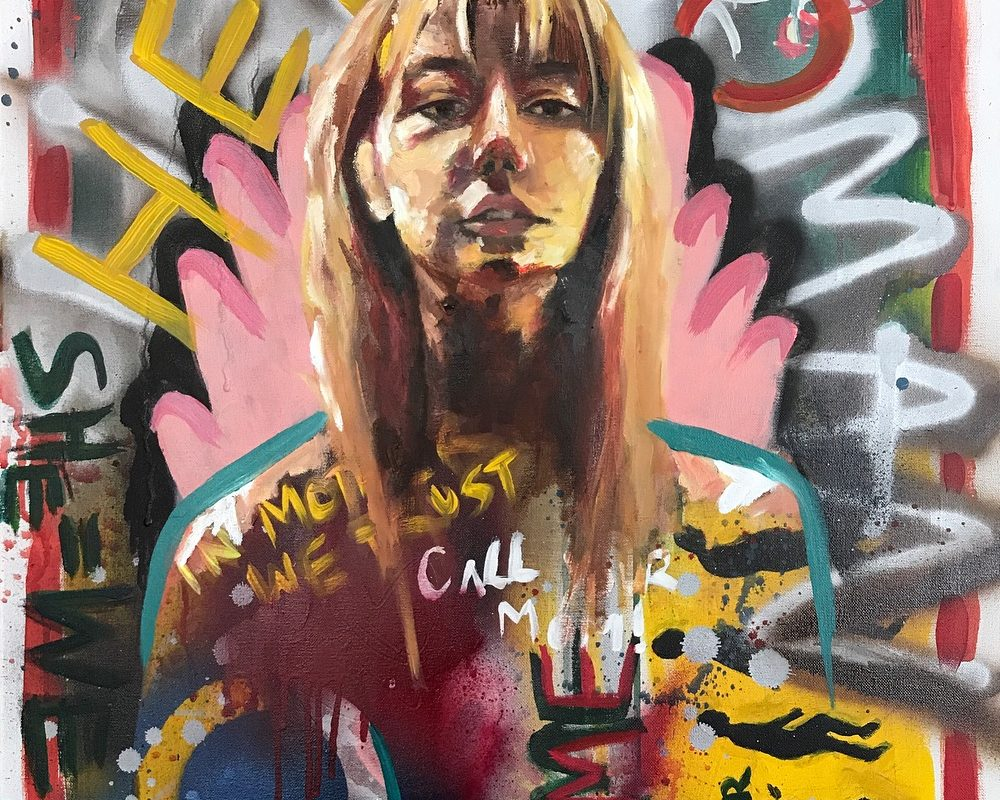 Mixed Media Painting, Sarah Kim, USA