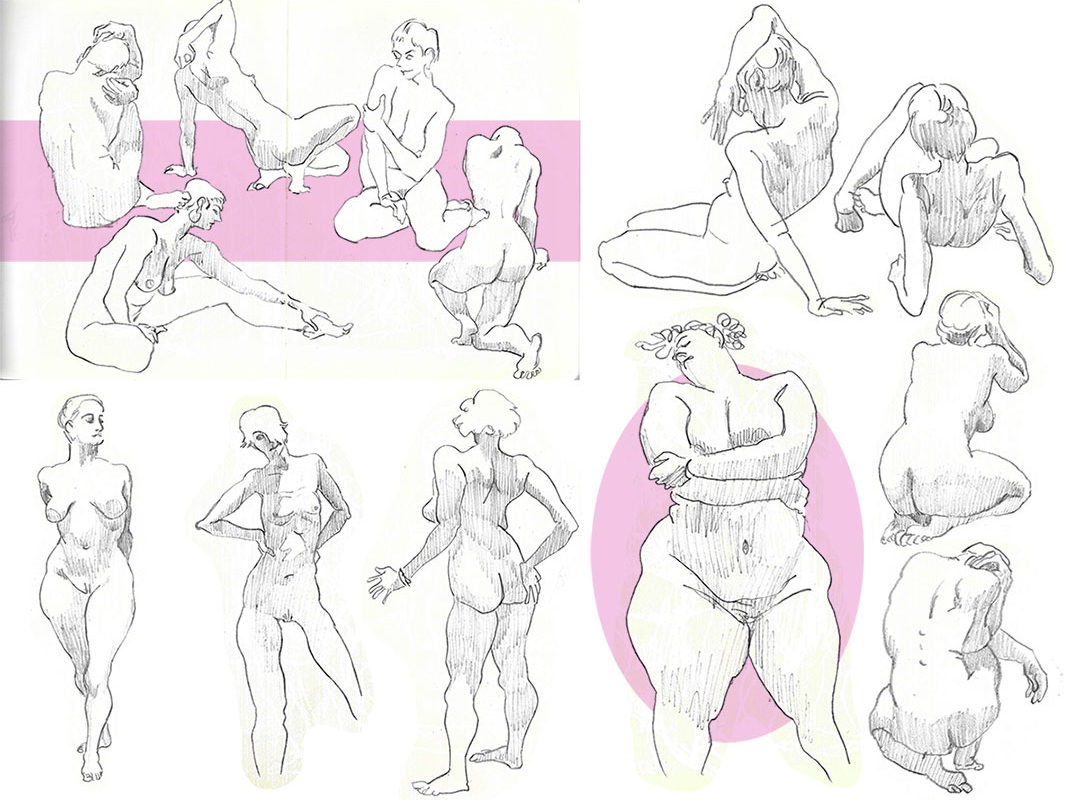 Figure Drawings, Catherine Huang