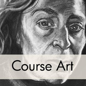 Self-Portrait Charcoal Drawing, Donna Bar Peled