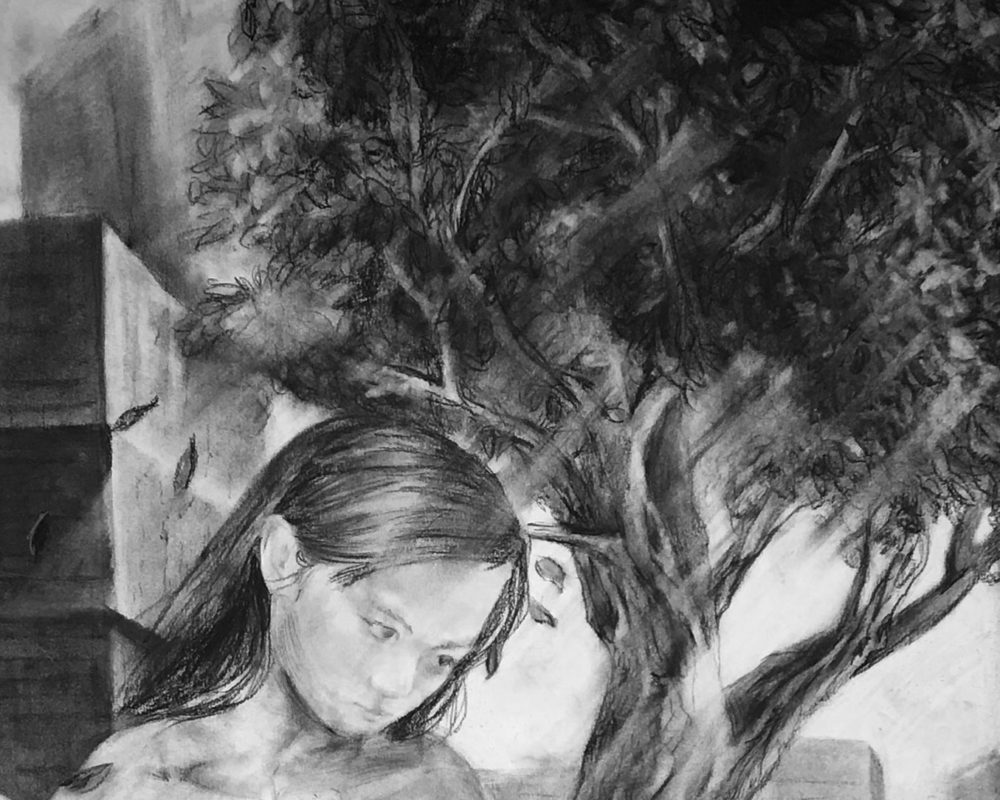 Charcoal Drawing, Jieru Lin