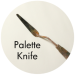 Art Supplies: Off Set Palette Knife