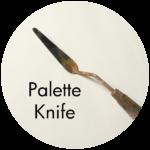 Art Supplies: Off Set Palette Knife
