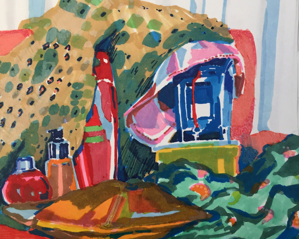 Still Life Marker Drawing, Anna Campbell
