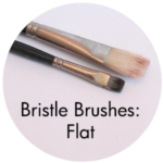 Art Supplies: Bristle Brushes, flat