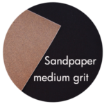 Art Supplies: Sandpaper, medium grit